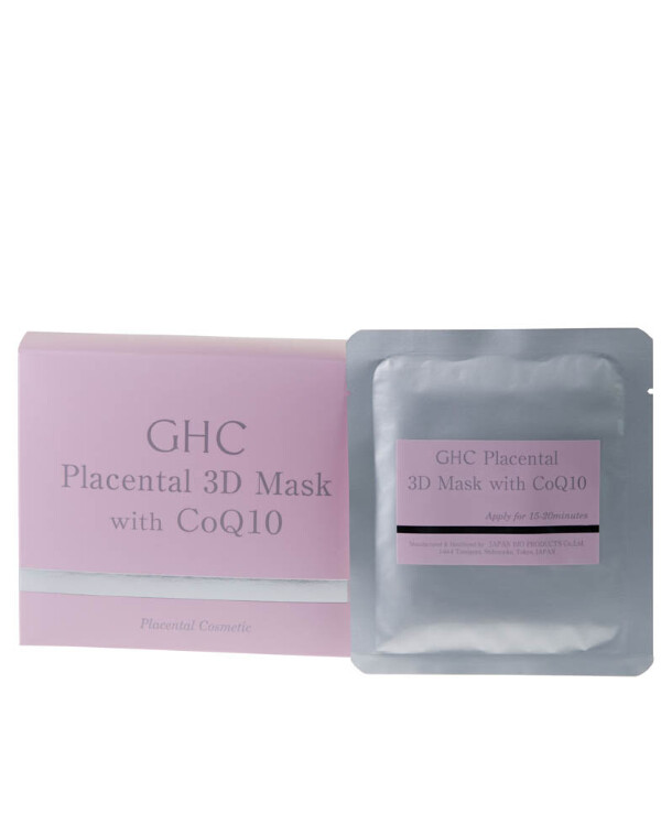JBP - Placental mask with coenzyme Q10 GHC Placental 3-D Mask 5pcs
