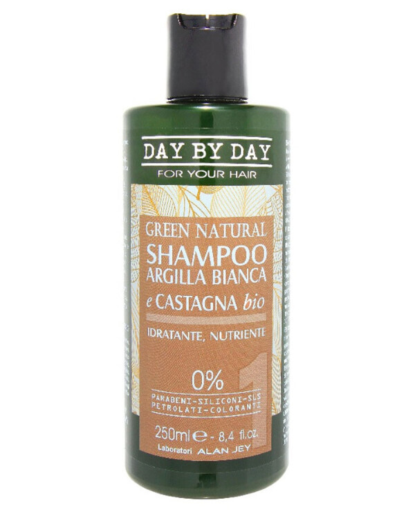 Alan Jey - Shampoo with white clay and bio chestnut Shampoo Argilla Bianca E Castagna Bio 250ml