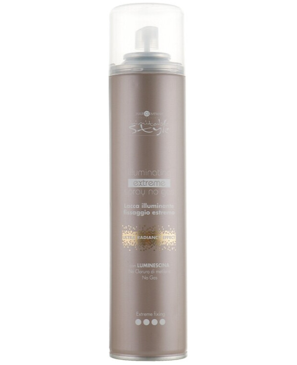 Hair Company professional - Shine spray without gas strong hold Inimitable Style Illuminating Extreme No Gas Spray 300ml