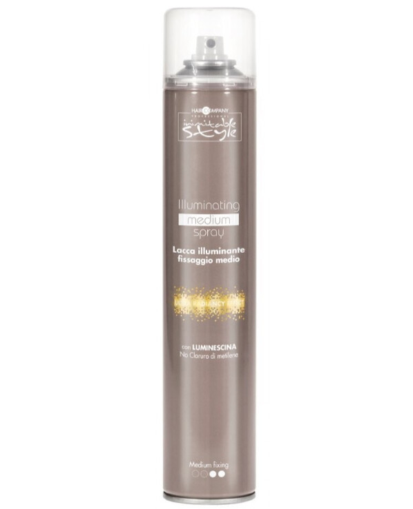 Hair Company professional - Medium hold hairspray Inimitable Style Illuminating Medium Fixing Spray 500ml