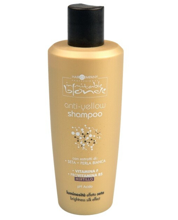 Hair Company professional - Анти-жёлтый шампунь Inimitable Blond Anti-Yellow Shampoo 250мл