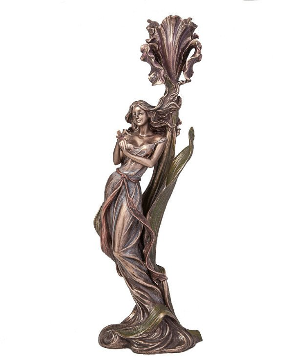 "Veronese - Candlestick ""Girl with a butterfly"" (36 cm)  Bronze"