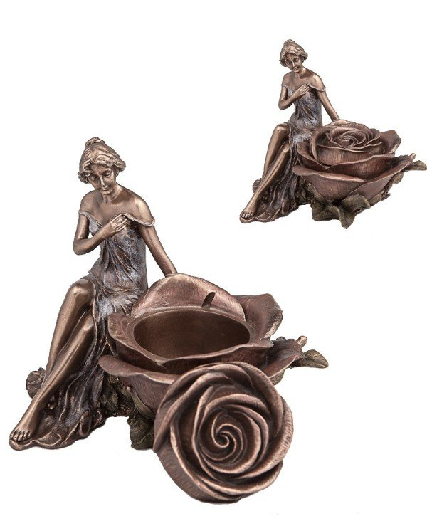 "Veronese - Box ""Girl and Rose"" (15 cm)"