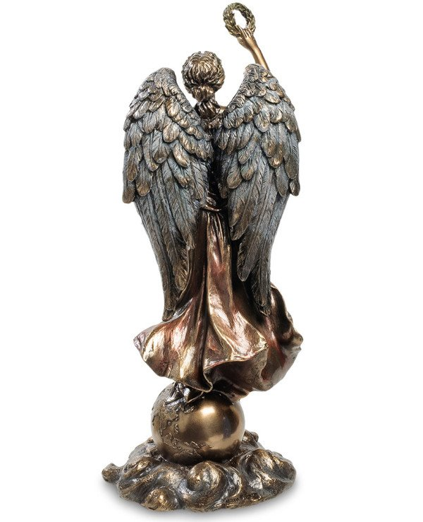 "Veronese - Statuette ""Guardian angel above the Earth"" (29 cm)  Bronze back"