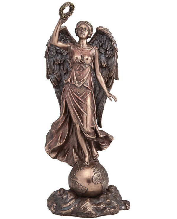 "Veronese - Statuette ""Guardian angel above the Earth"" (29 cm)  Bronze"