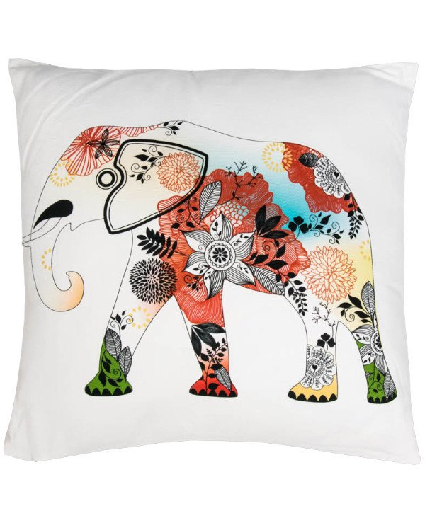 Home decor - Decorative pillow white - Elephant (45 * 45 cm)