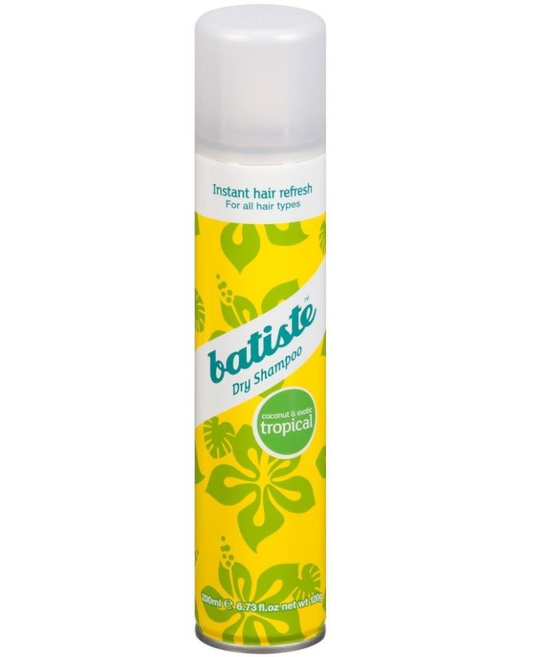 Batiste - Dry shampoo with the scent of coconut and exotic heat of the Caribbean islands Dry Shampoo Coconut and Exotic Tropical 200ml