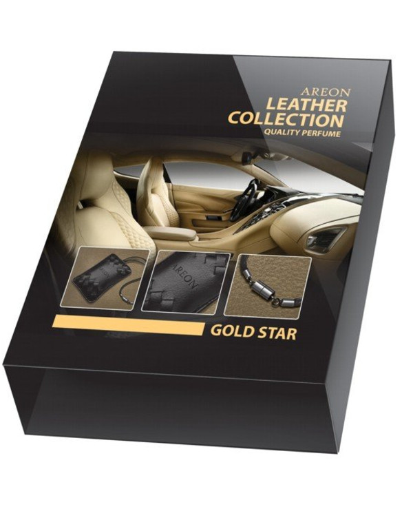 Areon - Flavor Awakened Leather Collection Gold Star ALC01 Areon Leather Collection Gold Star ALC01