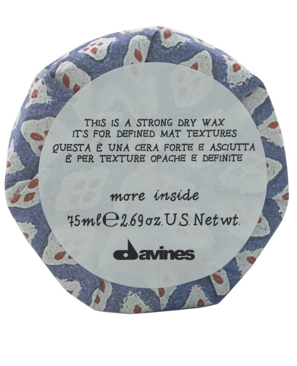 Davines - Dry wax for matte texture accent Strong Dry Wax 75ml