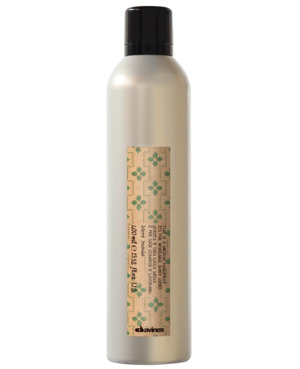 Davines - Lacquer medium fixation for elastic glossy styling Medium Hold Hairspray 400ml