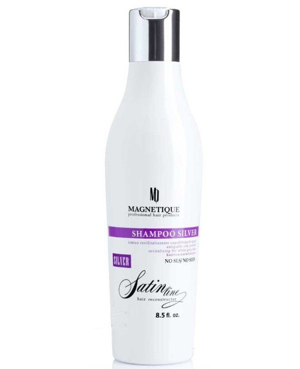 Magnetique - Shampoo with anti-yellowness and silk proteins for blond hair Shampoo Silver Satin Line