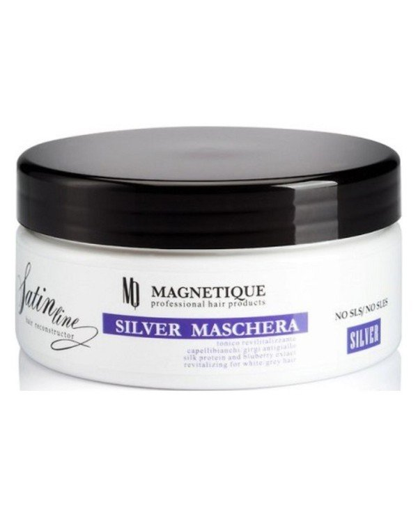 Magnetique - Mask with anti-yellowness and silk proteins for light hair Satin Line Silver Mask