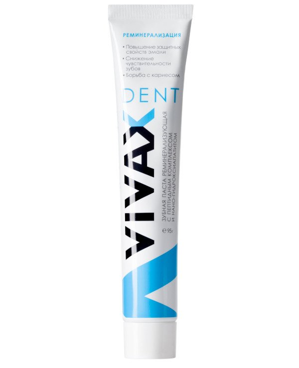 Vivax - Remineralizing toothpaste with peptide complex and nano-hydroxyapatite Vivax Dent Remineralize