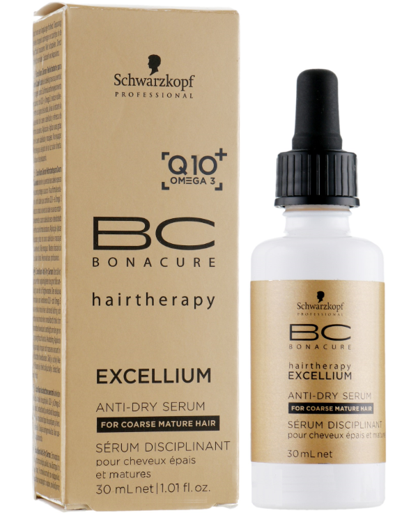 Schwarzkopf Professional - Energy Concentrate for mature hair BC Excellium Taming Anti-Dry Serum 30ml