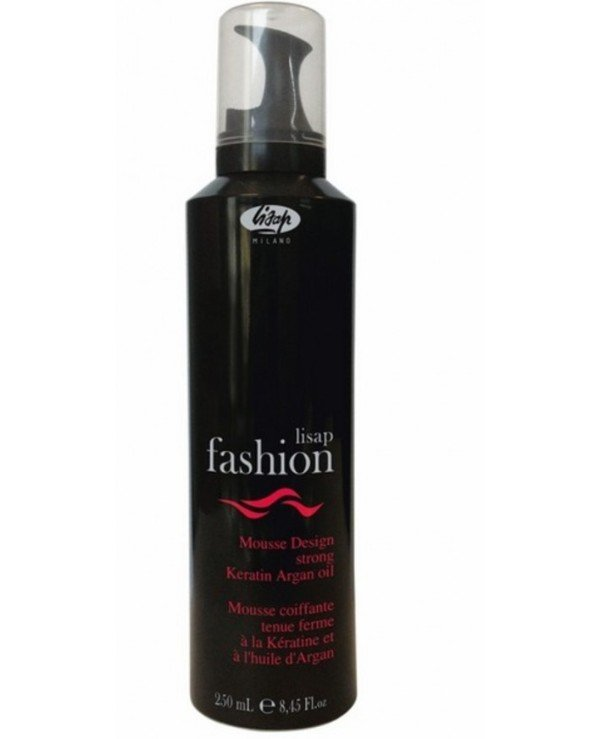 Lisap - Strong-fix foam mousse with keratin and argan oil Extreme mousse design strong