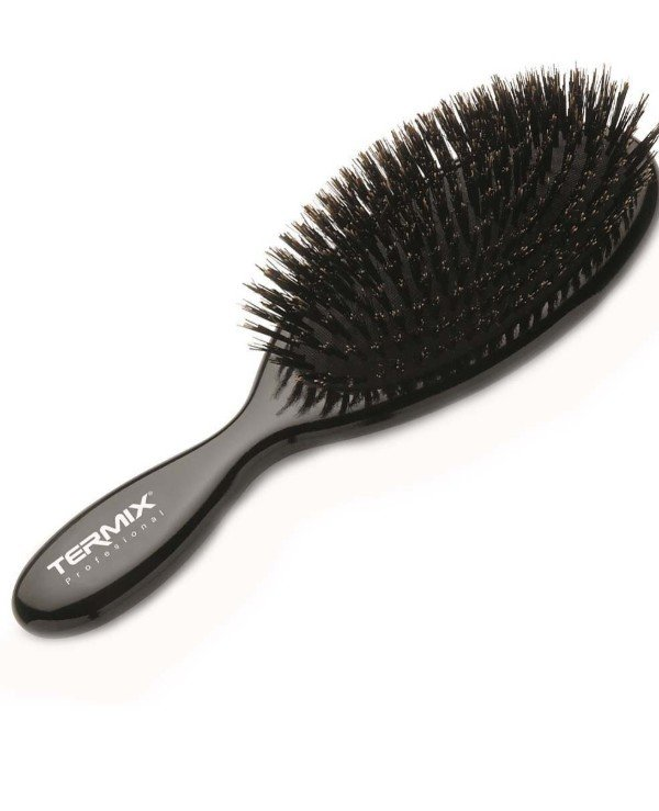 Termix - Pneumatic brush with natural bristles, small Natural Boar Hairbrush