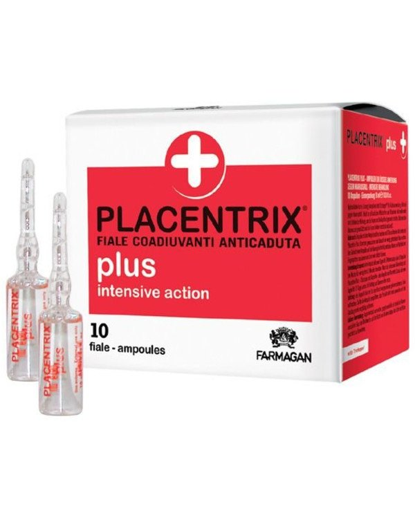 Farmagan - Lotion from hair loss of intense action in ampoules Placentrix Plus Intensive Action