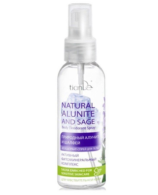 "TianDe - Body Deodorant Spray ""Natural Alunite and Sage"" Natural Alunite and Sage"