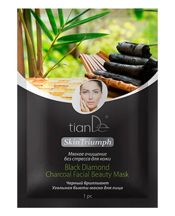 "TianDe - Beauty mask for face ""Black diamond"" Skin Triumph Black Diamond Charcoal Facial"