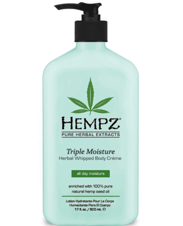 Hempz - Gentle Moisturizing Body Cream for Triple Action Triple Moisture Herbal Whipped Body Creme