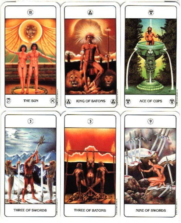 US Games Systems Tarot - Taro Ages Tarot of the Ages  back