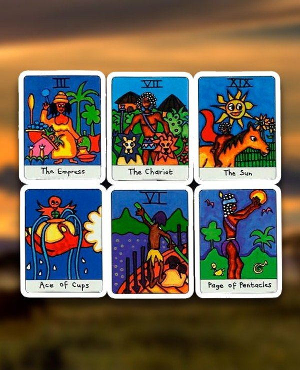 US Games Systems Tarot - Африканское таро African Tarot  back