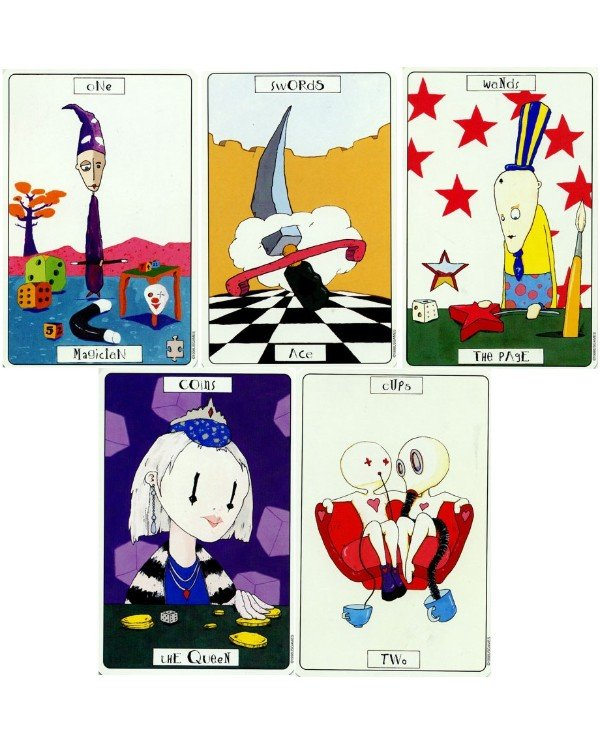 US Games Systems Tarot - Tarot Theater Fantasmagoria Phantasmagoric Theater Tarot  back