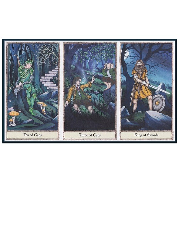 US Games Systems Tarot - Таро Хоббита Hobbit Tarot  back