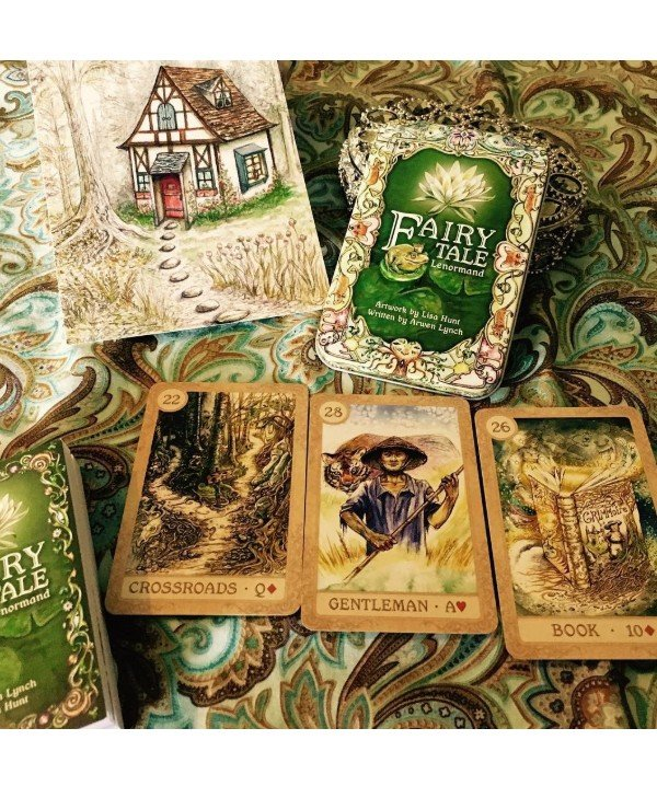 US Games Systems Tarot - Fairy Lenormand (in a tin box) Fairy Tale Lenormand  back