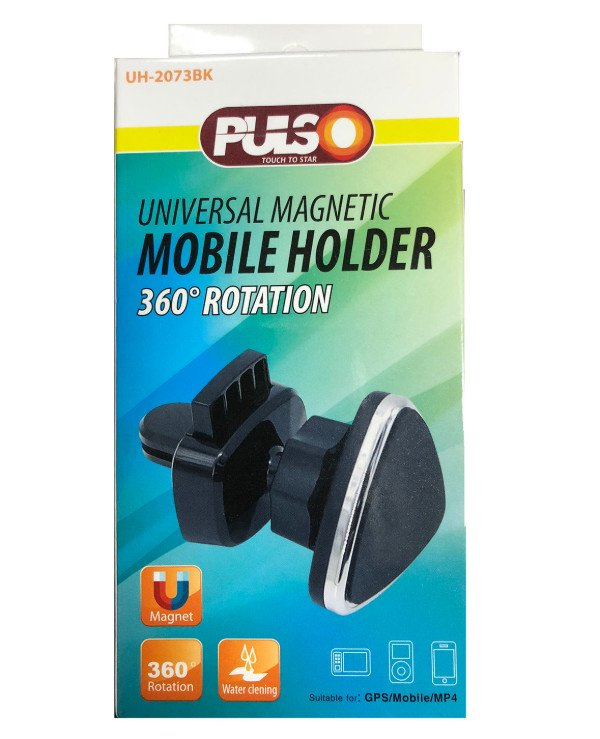 Pulso - Magnetic mobile phone holder Pulso UH-2073BK Car holder for triangle deflector