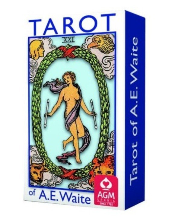 AGM-Urania Tarot - Tarot Waite blue (pocket version) Waite Tarot (Blue edition)