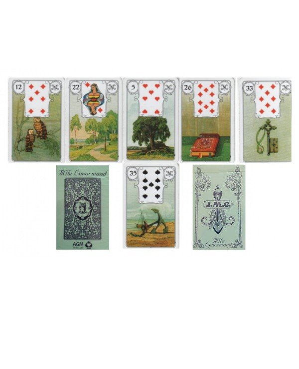 AGM-Urania Tarot - Maps Lenormand Blue Owl Lenormand Blue Owl  back