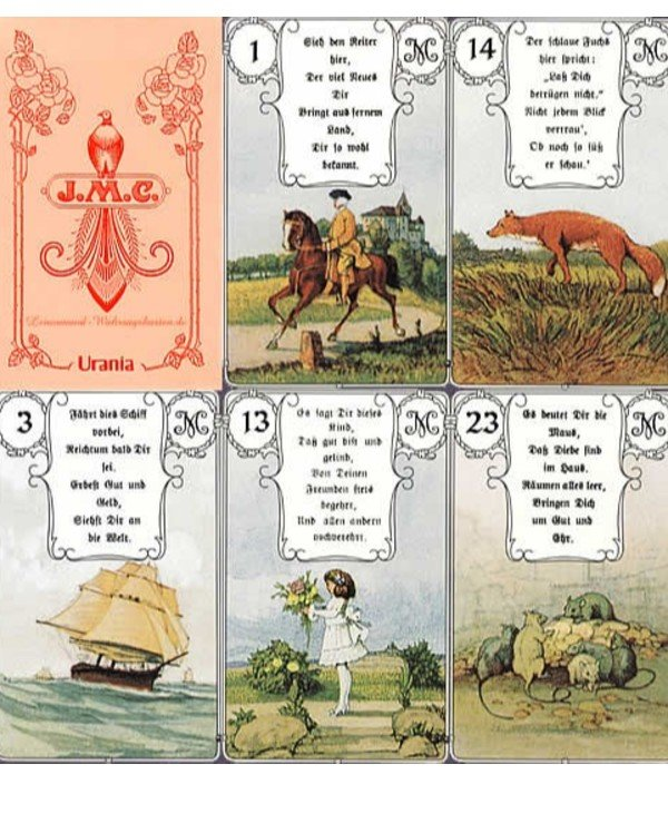 AGM-Urania Tarot - Maps Lenormand Red Owl Lenormand Red Owl  back