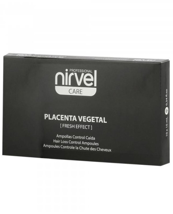 Nirvel Professional - Ampoules against prolapse with the placenta, with oily scalp Reconstituted Plant Placenta Fresh Effect 10x10ml