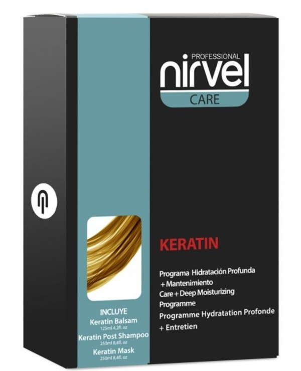 Nirvel Professional - Home keratin hair restoration kit Pack Deep Moisturizing Treatment 125ml
