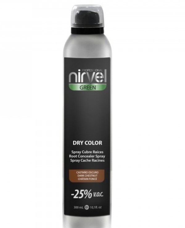 Nirvel Professional - Tinting hair spray Dry Color Dark Brown 300ml, Brown
