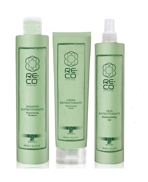 Green Light - Set for hair reconstruction (home) Re-Co Hair Wellness (shm/300ml + oil/250ml + hair/cr/250ml)