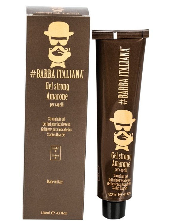 Barba Italiana - Strong fixation gel Gel strong per capelli AMARONE 120ml
