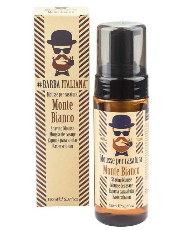 Barba Italiana - Shaving mousse foam Mousse per rasatura MONTE BIANCO 150ml