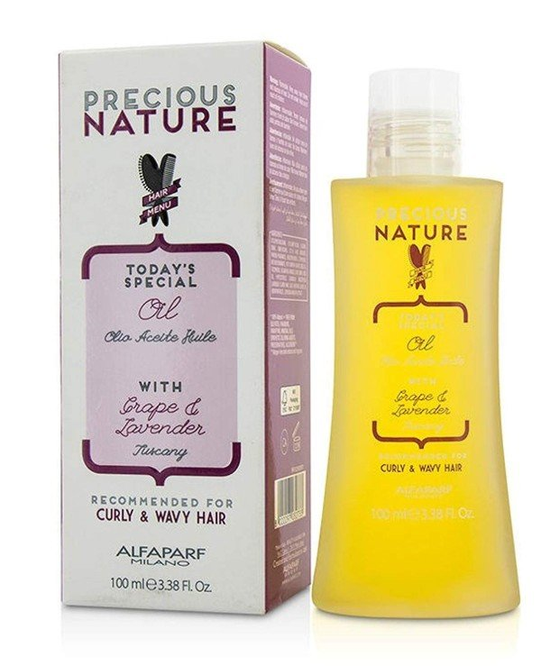 "Alfaparf Milano - Oil for curly and curly hair ""Grapes and lavender"" Oil For Curly Wavy Hair 100ml"