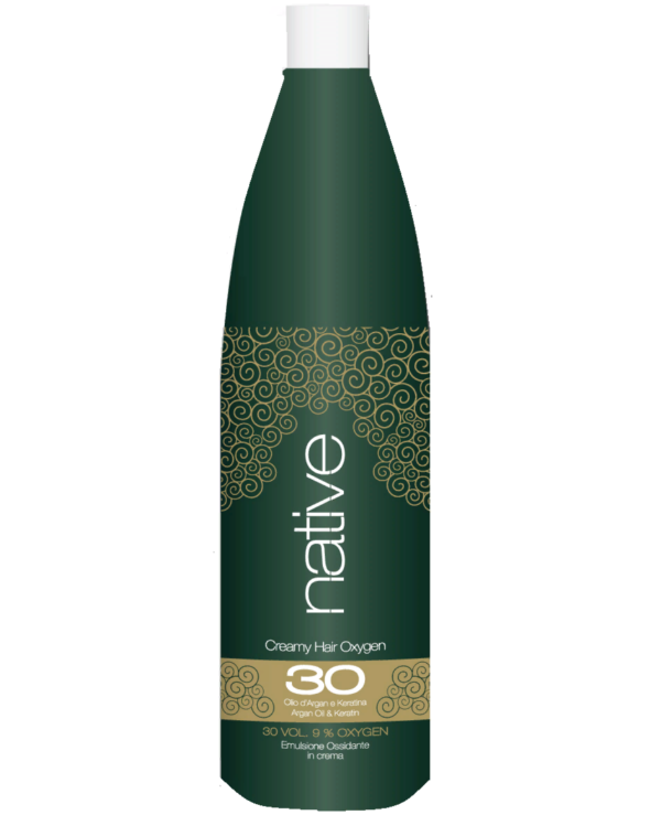Native - Cream-Oxidizer with argan oil and keratin Creamy Hair Oxygen With Argan Oil & Keratin