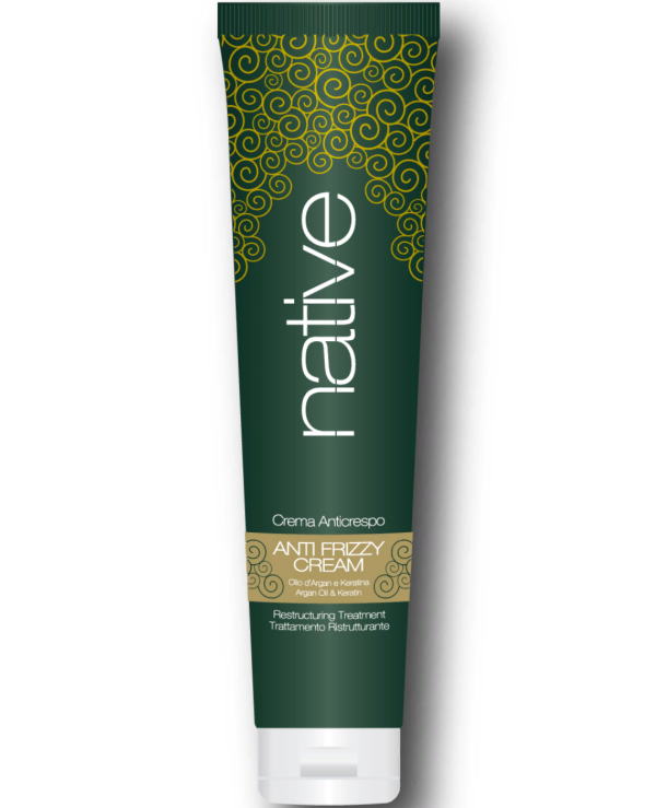 Native - Leveling Cream with Reconstructive Effect Antifrizzy Cream With Argan Oil & Keratin