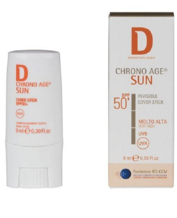 Dermophisiologique - Солнцезащитный стик SPF 50+ Invisible Cover Stick SPF 50+ 9мл