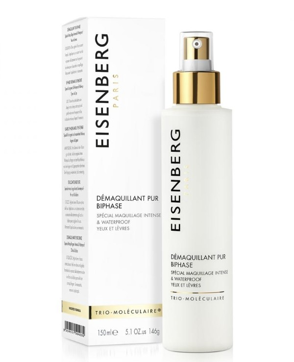 Eisenberg Biphasic eye and lip makeup remover | Two-phase makeup remover for eyes and ...