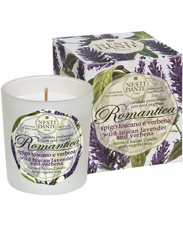 Nesti Dante - Candle Tuscan Lavender and Verbena flavored Candles Romantica Tuscan lavender & Verbena White, 160 g back
