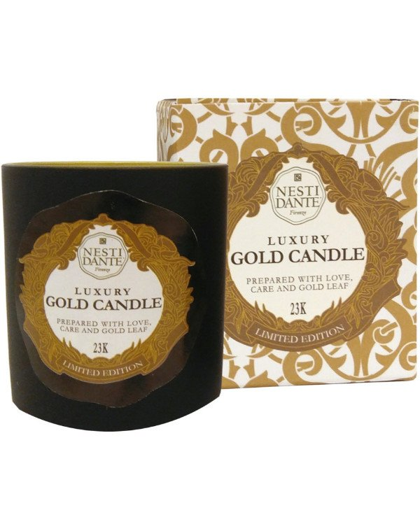 Nesti Dante - Jubilee candle with 23 karat gold flavored Candles Luxury Gold back