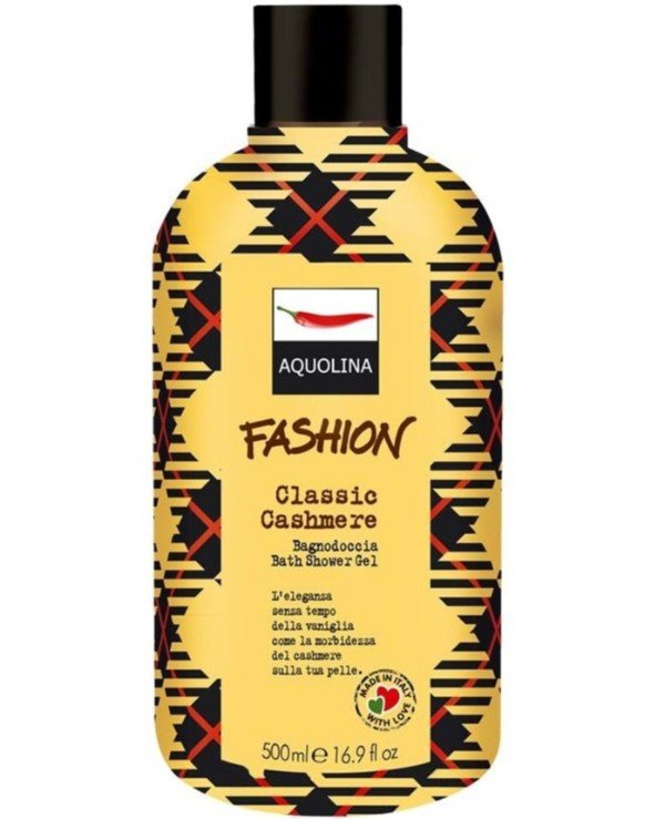Aquolina - Гель для душа Fashion Bath Shower Gel Classic Cashmere 500мл