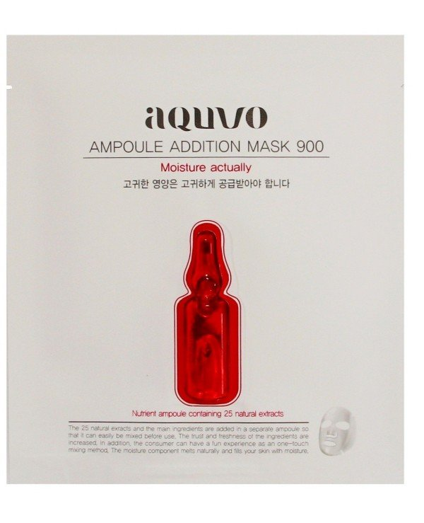 Aquvo - Moisturizing face mask Ampoule Addition Mask 900 Moisture Actually