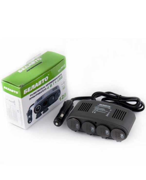 Belauto Белавто - Belavto cigarette lighter splitter 4 sockets with USB