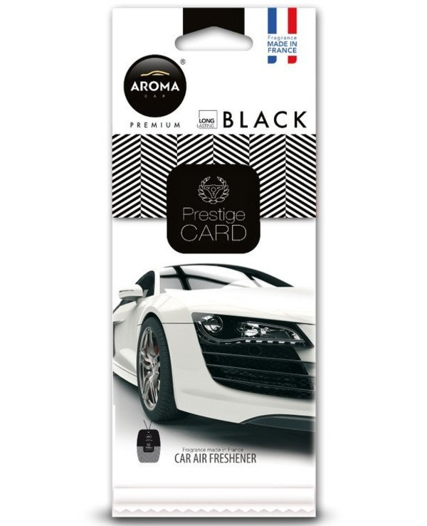 Aroma Car - Fragrance Prestige Card Black